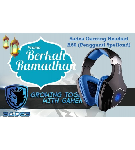 Headset Gaming Sades A60