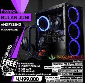 PC Gamer Bali Promo PC Rakitan Bulan Juni